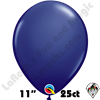Qualatex 11 Inch Round Fashion Navy Blue Balloons 25ct