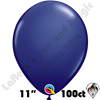 Qualatex 11 Inch Round Fashion Navy Blue Balloons 100ct
