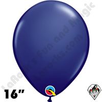 Qualatex 16 Inch Round Fashion Navy Blue Balloons 50ct