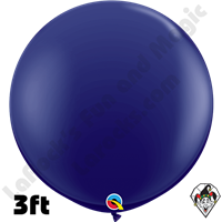 Qualatex 3 Foot Round Fashion Navy Blue Balloons 2ct