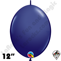 Qualatex 12 inch Quick Link Fashion Navy Blue Balloons 50ct