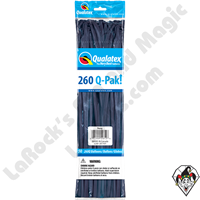 Qualatex 260Q-Pak Fashion Navy Blue Balloons 50ct