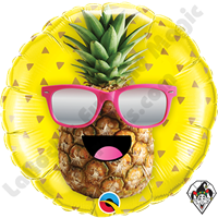 18 Inch Round Mr Cool Pineapple Foil Balloon Qualatex 1ct