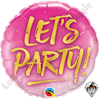 18 Inch Round Let's Party Foil Balloon Qualatex 1ct