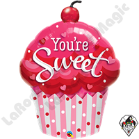 35 Inch You're Sweet Cupcake Foil Balloon Qualatex 1ct
