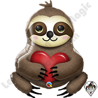 39 Inch Shape Adorable Sloth Foil Balloon Qualatex 1ct