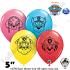 Qualatex 5 Inch Round Assortment Paw Patrol Faces Balloons 100ct