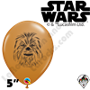 Qualatex 5 Inch Round Chewbacca Face Balloons 100ct