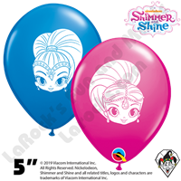 Qualatex 5 Inch Round Assortment Shimmer and Shine Faces Balloons 100ct