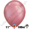 Qualatex 11 Inch Round Chrome Mauve Balloons 100ct