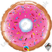 09 Inch Round Donut Foil Balloon Qualatex 1ct