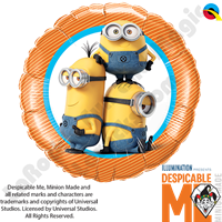 18 Inch Round Minions Foil Balloon Qualatex 1ct.