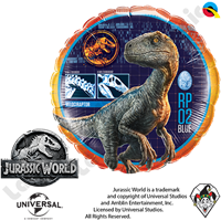 18 Inch Round Jurassic World Foil Balloon Qualatex 1ct.
