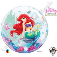22 Inch Disney The Little Mermaid Bubble Qualatex 1ct