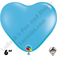 Qualatex 6 Inch Heart Standard Pale Blue Balloons 100ct