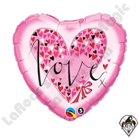 Qualatex 18 Inch Heart Rachel Ellen Love Little Hearts Foil Balloon 1ct