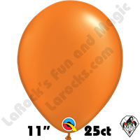Qualatex 11 Inch Round Pearl Mandarin Orange Balloons 25ct