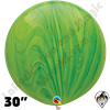 Qualatex 30 Inch Round Green Superagate Balloons 2ct