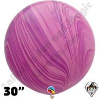 Qualatex 30 Inch Round Pink/Violet Superagate Balloons 2ct