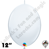 Qualatex 12 inch Quick Link Standard White Balloons 50ct