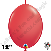 Qualatex 12 inch Quick Link Standard Red Balloons 50ct