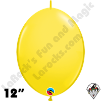 Qualatex 12 inch Quick Link Standard Yellow Balloons 50ct