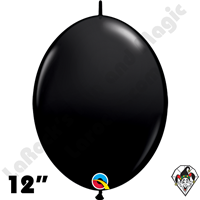 Qualatex 12 inch Quick Link Fashion Onyx Black Balloons 50ct