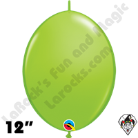 Qualatex 12 inch Quick Link Fashion Lime Green Balloons 50ct