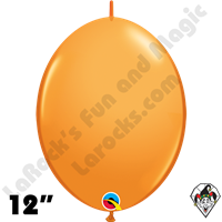 Qualatex 12 inch Quick Link Standard Orange Balloons 50ct