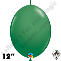 Qualatex 12 inch Quick Link Standard Green Balloons 50ct