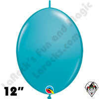 Qualatex 12 inch Quick Link Fashion Tropical Teal Balloons 50ct