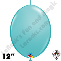 Qualatex 12 inch Quick Link Fashion Caribbean Blue Balloons 50ct