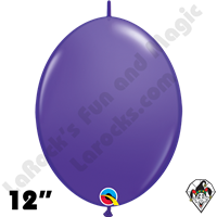 Qualatex 12 inch Quick Link Fashion Purple Violet Balloons 50ct