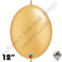 Qualatex 12 inch Quick Link Metallic Gold Balloons 50ct