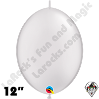 Qualatex 12 inch Quick Link Pearl White Balloons 50ct
