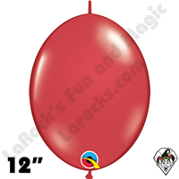 Qualatex 12 inch Quick Link Jewel Ruby Red Balloons 50ct