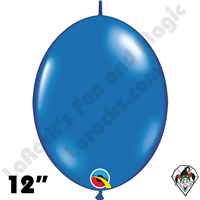 Qualatex 12 inch Quick Link Jewel Sapphire Blue Balloons 50ct