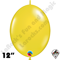 Qualatex 12 inch Quick Link Jewel Citrine Yellow Balloons 50ct