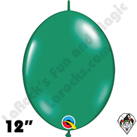 Qualatex 12 inch Quick Link Jewel Emerald Green Balloons 50ct
