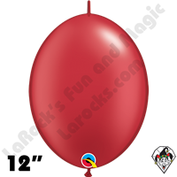 Qualatex 12 inch Quick Link Pearl Ruby Red Balloons 50ct