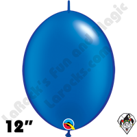 Qualatex 12 inch Quick Link Pearl Sapphire Blue Balloons 50ct
