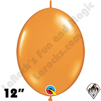 Qualatex 12 inch Quick Link Jewel Mandarin Orange Balloons 50ct