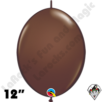 Qualatex 12 inch Quick Link Fashion Chocolate Brown Balloons 50ct