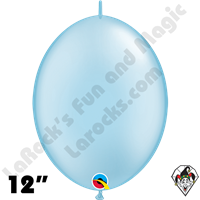 Qualatex 12 inch Quick Link Pearl Light Blue Balloons 50ct