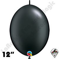 Qualatex 12 inch Quick Link Pearl Onyx Black Balloons 50ct