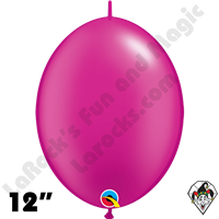 Qualatex 12 inch Quick Link Pearl Magenta Balloons 50ct
