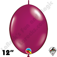 Qualatex 12 inch Quick Link Jewel Sparkling Burgundy Balloons 50ct