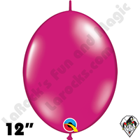 Qualatex 12 inch Quick Link Jewel Magenta Balloons 50ct