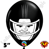 Qualatex 5 Inch Round Football Helmet Black Balloons by Dylan Rowe 100ct