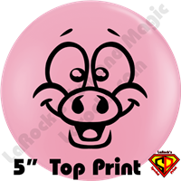 Qualatex 5 Inch Round Mr Pig Top Print Balloons by Juan Gonzales 100ct